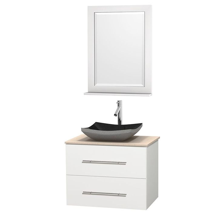 Photo Gallery For Website Wyndham Collection Centra inch Single Bathroom Vanity in White w Mirror