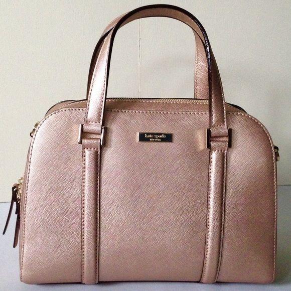 "Kate Spade rose gold small Felix satchel NWT Small Felix satchel in rose gold leather, gold hardware, 2 pockets, 1 zipper pocket. Detachable strap adjusts to 40"". Approx 9x11.5x3.5 kate spade Bags Satchels"