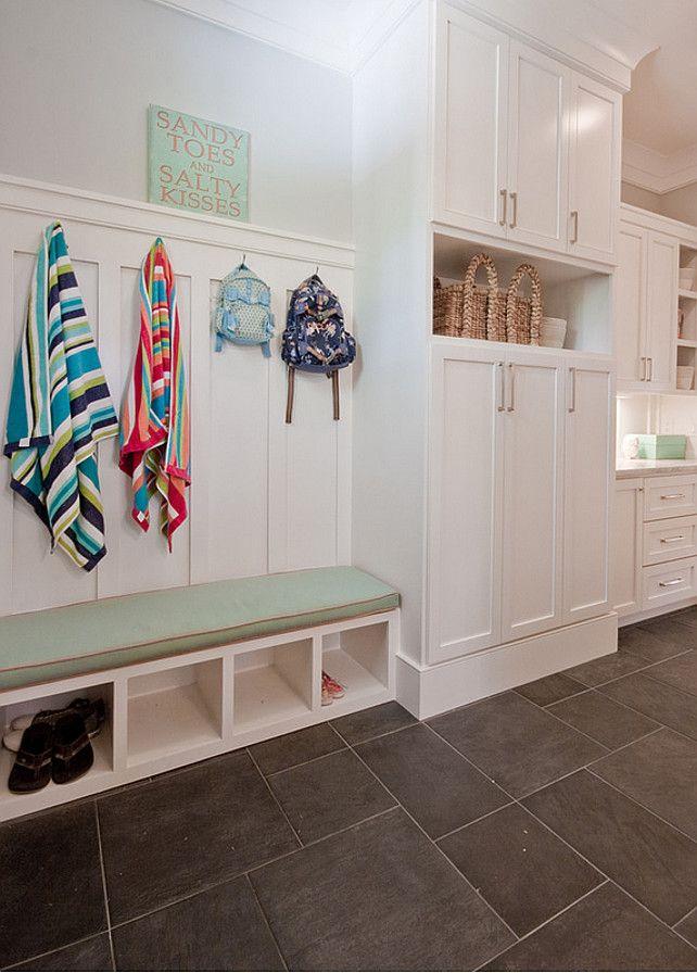 Mud Room Board And Batten Built In Desk Hooks Mudroom Shelves Shoes Laundry Pinterest House Beach