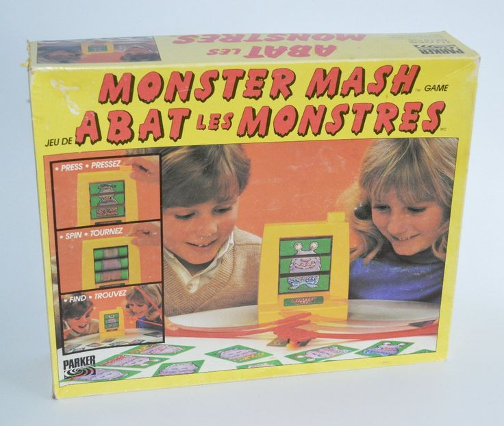 Vintage Monster Mash, Parker Brothers Board Game 1987 Monster Thwacking Game by Retrorrific on Etsy