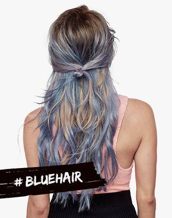 Spray colore per capelli #BLUEHAIR