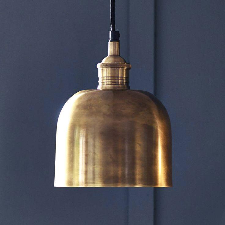 141$ flori brass pendant light by rowen & wren | notonthehighstreet.com