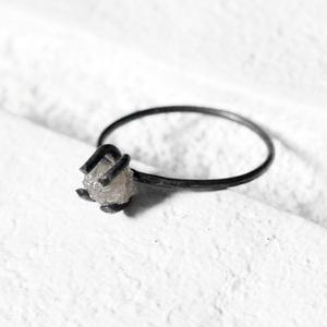 Ring Ungeschliffener Diamant Silberjetzt auf Fab
