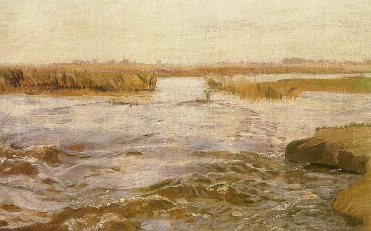 Józef Chełmoński - Zalana łąka