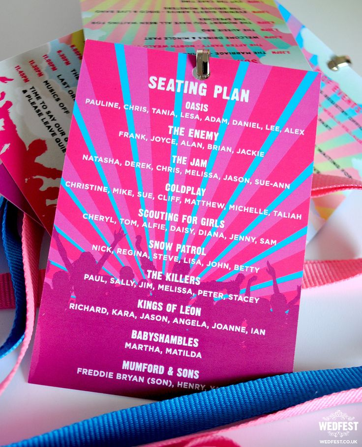 wedding festival seating plan-lanyard http://www.wedfest.co/personalised-festival-wedding-stationery/