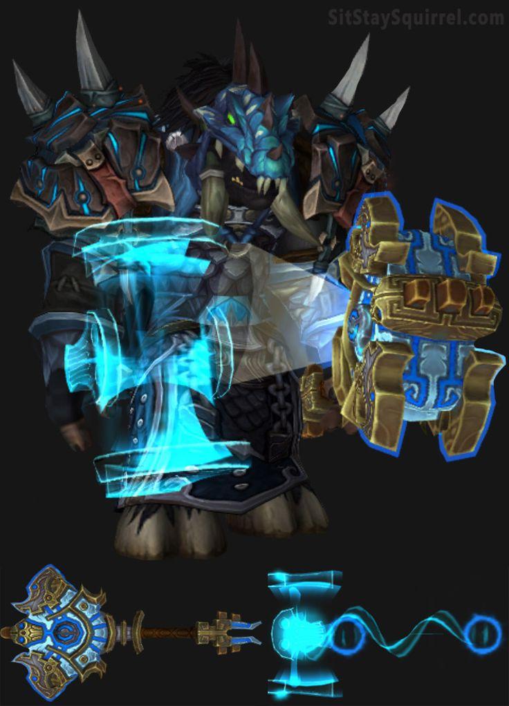 Tauren Male Enhancement Shaman Artifact Transmog Set. World of Warcraft Legion