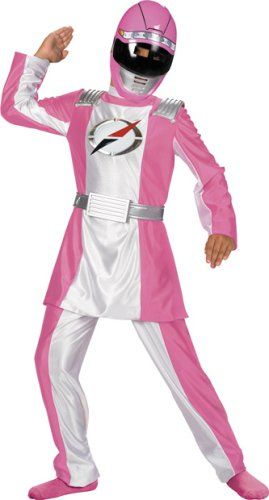 Girl's Deluxe Pink Ranger Costume (Size:Small 4-6)