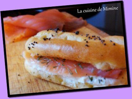 mini eclair salé saumon fumé crème citronnée ail et fines herbes
