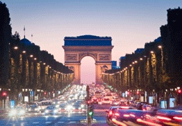 Paris - The City of Light. In 1928 Paris was the first European city to light its main street (the Champs-Elysees) with gas lanterns and so the name remains.