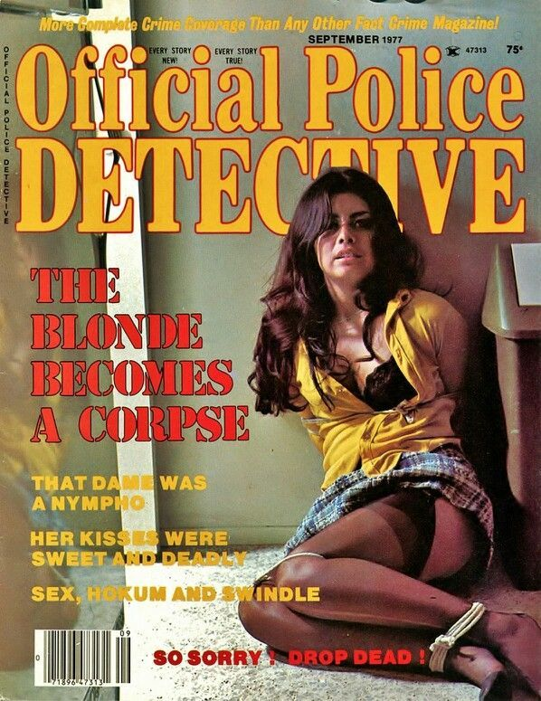 Bondage Detective Magazine Covers Hot Sexy Trapped Girls Tied Up