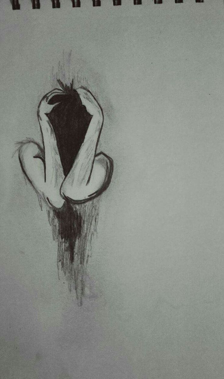 Dark thoughts, pencil
