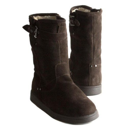 Marc Fisher Earra Womens Mid Calf Pull On Winter Boot  The Marc Fisher Earra Cold Weather Boots are hot for the winter with their trendy top-stitched details, buckle decor and contrasting platform sole.