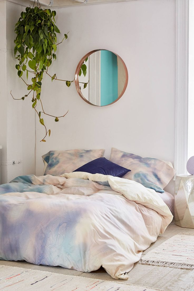 Slide View: 1: Chelsea Victoria For DENY Unicorn Marble Duvet Cover #UOonCampus #UOContest so dreamy!