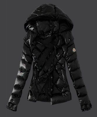 Moncler Fashion Leisure Womens Down Jackets Black