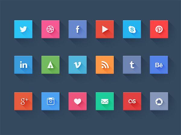 Social icons - freebie #flat #design