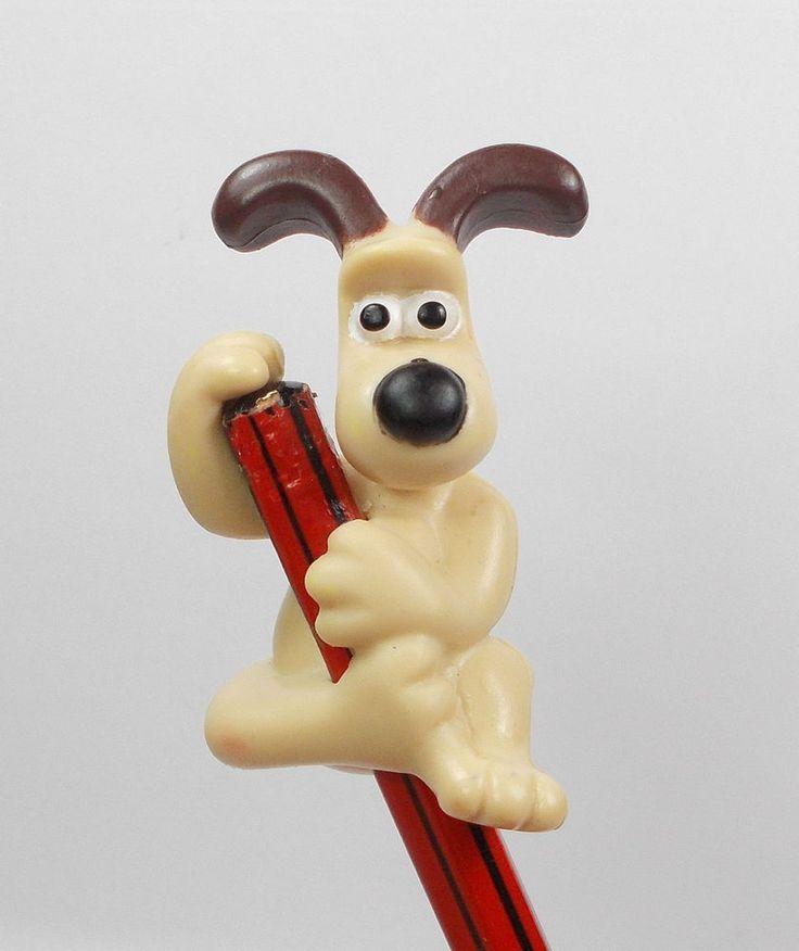 Wallace & Gromit - Gromit - Mini Toy Figure - Aardman 1989 - Pencil Topper