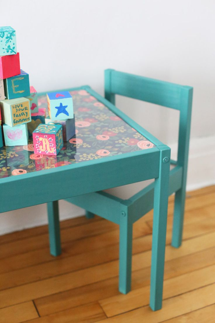 Ikea kids table and chairs - Diy Kids Table Makeover
