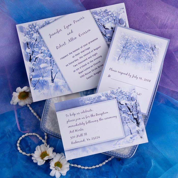15 best Winter Wedding Invitations images – Fall or Winter Theme Invitation Cards