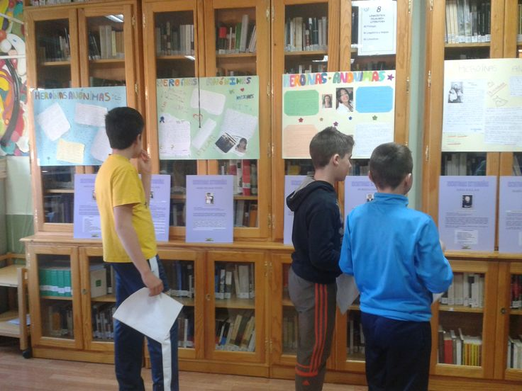 """EXPOSICIÓN """"LA MUJER EN LA LITERATURA"""". Una de las muchas actividades realizadas para celebrar el 8 DE MARZO DE 2014"""