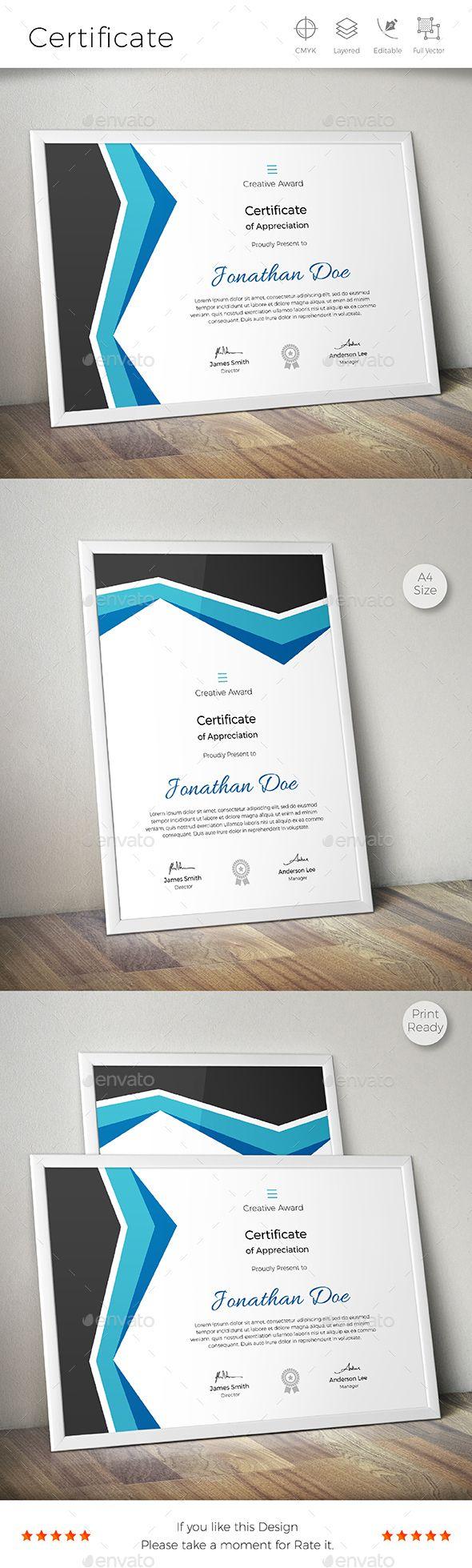 18 best сертификат images on Pinterest | Certificate templates ...