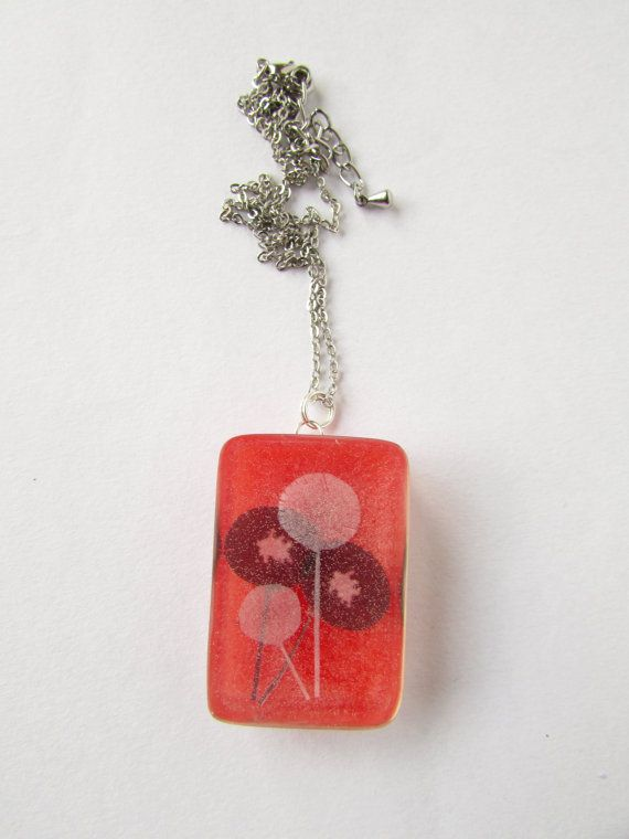 Paper Dandelion wishes encased in resin with a by DelabudCreations