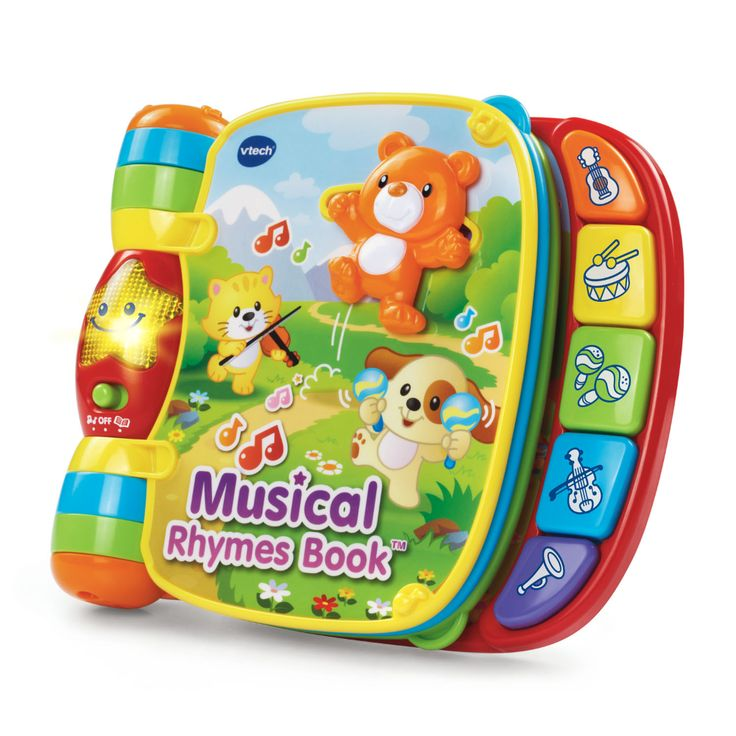Vtech Musical Rhymes Book Classic Nursery Rhymes For Babies Walmart Com Toys For 1 Year Old Rhyming Books Vtech Baby