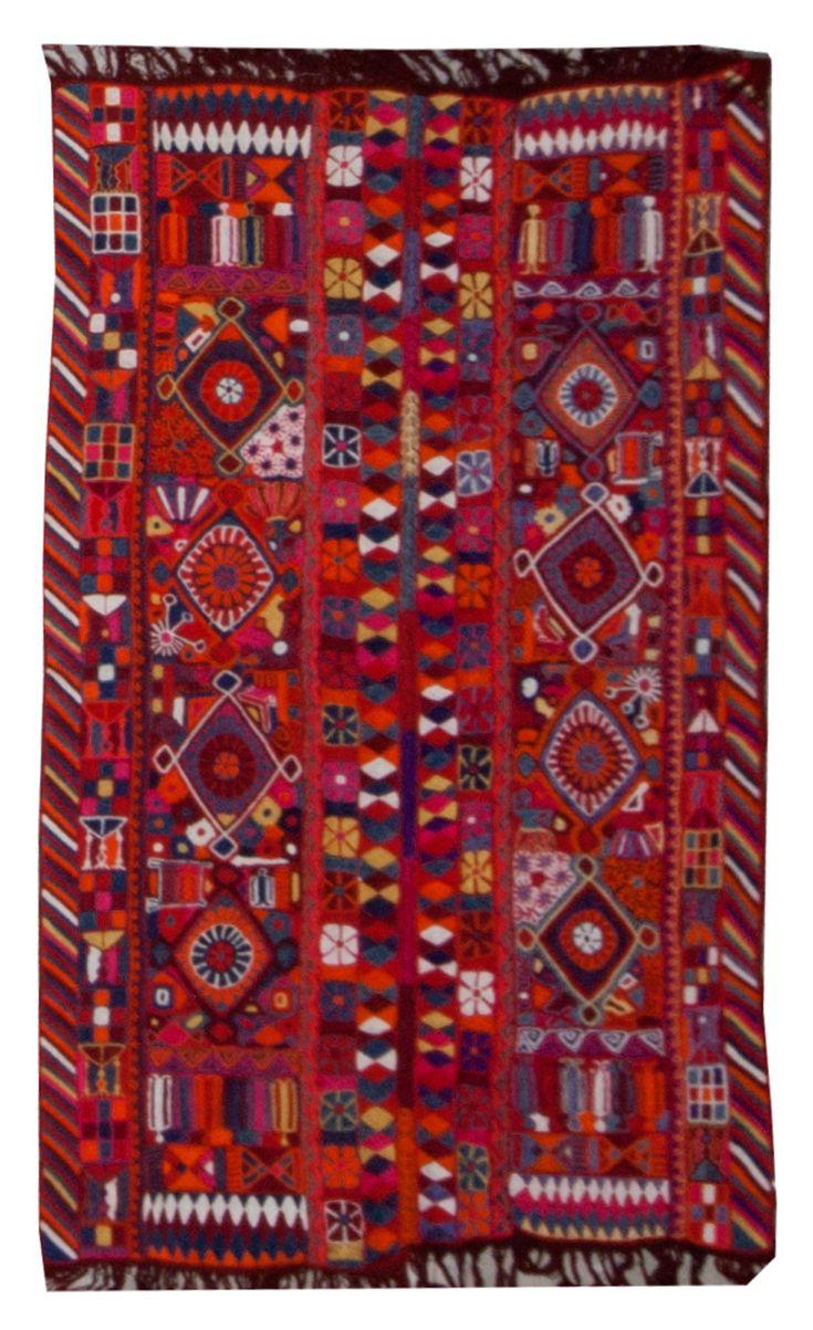 Kilim Iraqi Number 18456 Vintage Modern Kilim Woven