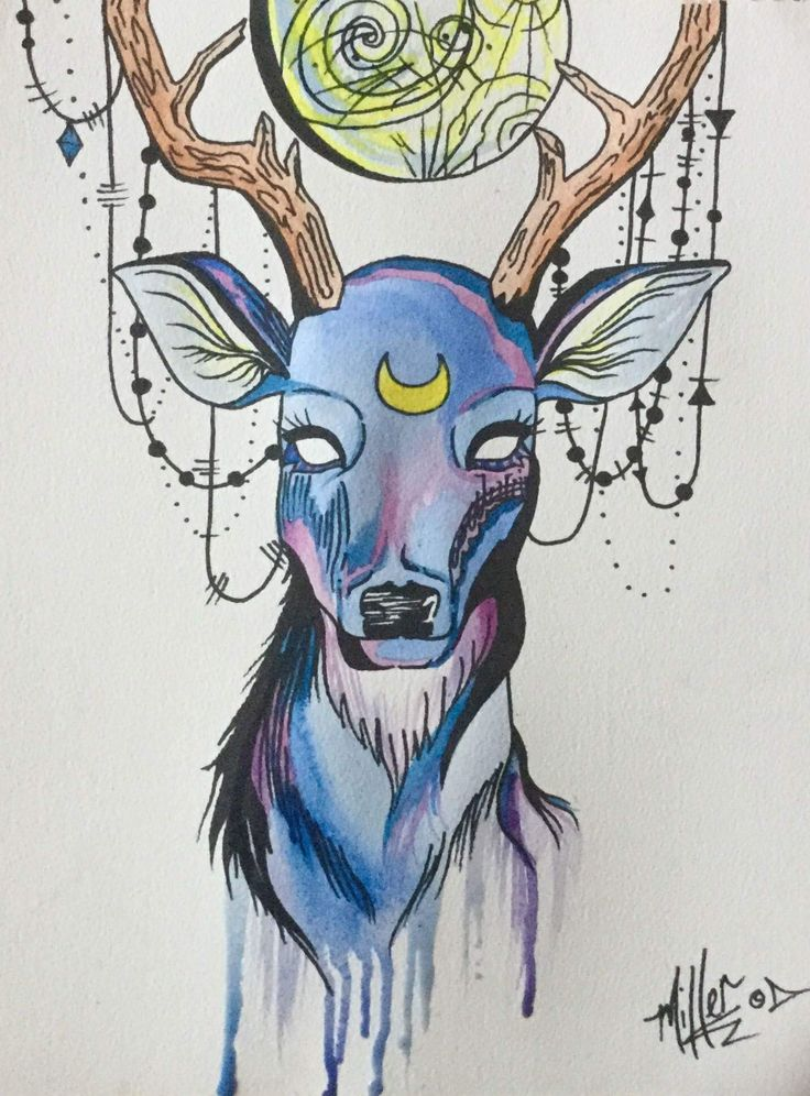 Deer Spirit~ watercolour and ink on paper~