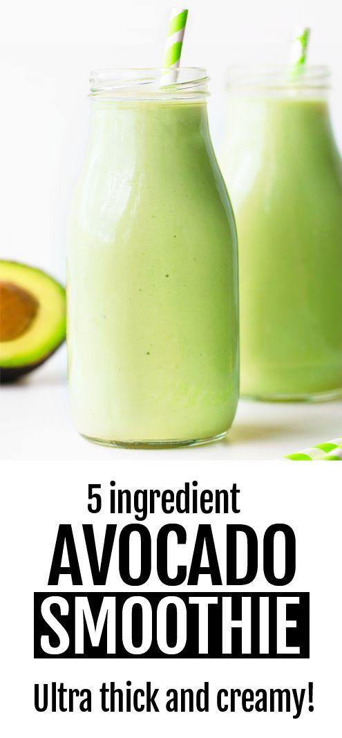 Wie man ein super gesundes, einfaches 5-Zutaten-Cremiges, veganes Avocado-Smoothie-Rezept macht …   – Superfoods