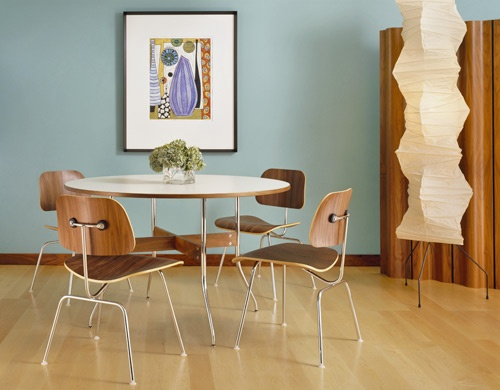 Eames DCM chairs · Plywood ChairRound Dining ...