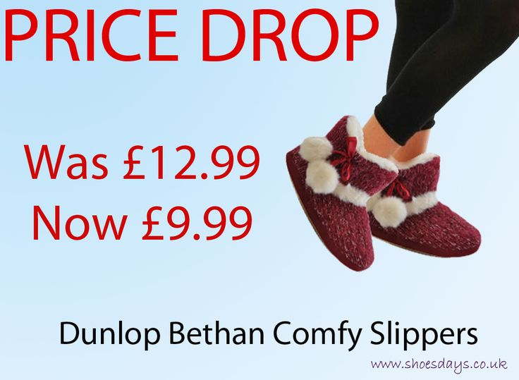Price Drop!!! Snug comfy huggable Dunlop ankle high slippers from £12.99 down to £9.99!!! Best friends for life: http://www.shoesdays.co.uk/collections/ladies-womens-flat-shoes-sandals