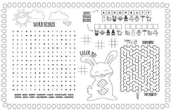 It's just a graphic of Printable Easter Activities with regard to word search
