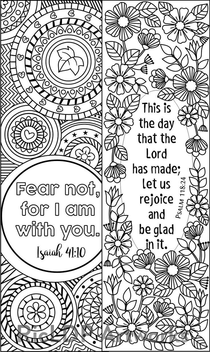 Bible Verse Coloring Bookmarks (with 8 designs) #bookmark #coloring #ricldp