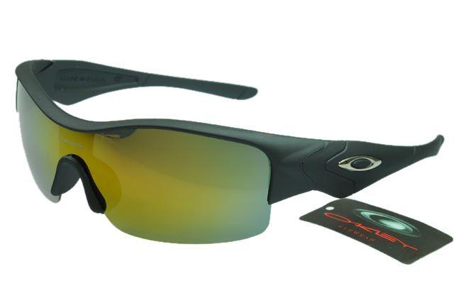 Oakley Asian Fit Sunglasses Black Frame Colorful Lens 0122
