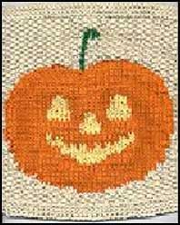 free knitting pattern for a halloween pumpkin dishcloth - Free Halloween Knitting Patterns