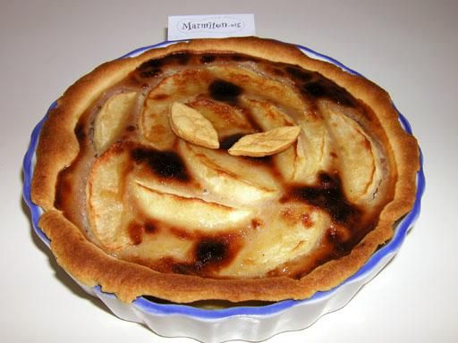 Tarte aux pommes et à la crème de marrons - Recette de cuisine Marmiton : une recette