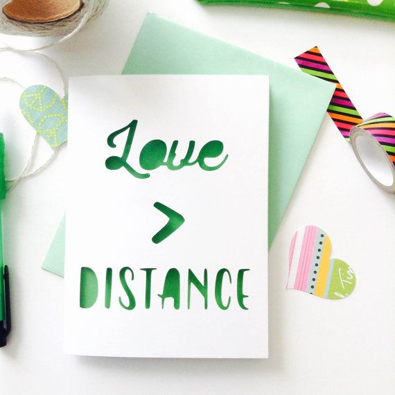 LDR Card (012)   Long Distance Relationship Card   LDR Gift   MilSO Card   (Love > Distance)
