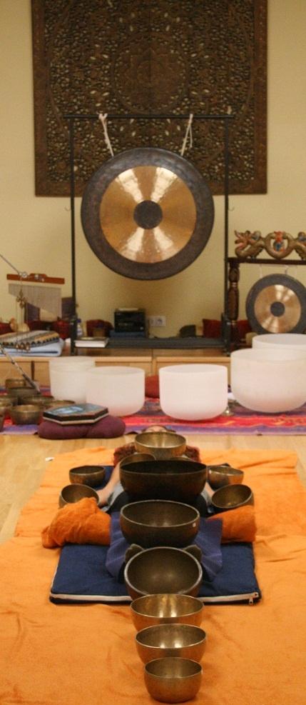 Cuencos tibetanos y de cuarzo