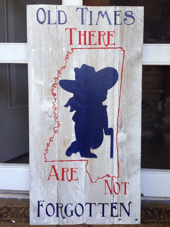 Ole Miss Colonel Reb Not forgotten Pallet by CreationsByKCJones, $45.00