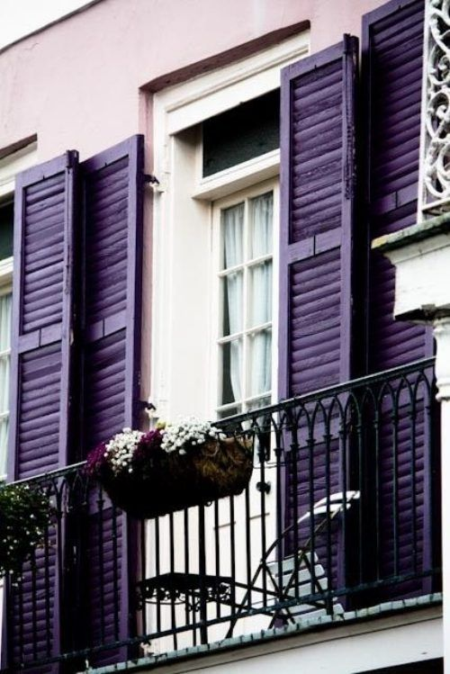 I don't care what anyone thinks, my dream home would have purple shutters...