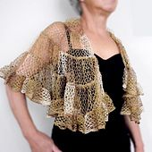Ravelry: Sophia's Shawl pattern by Margaret Zellner made with Sashay Yarn