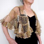 Ravelry: Sophia's Shawl pattern by Margaret Zellner made with Sashay Yarn
