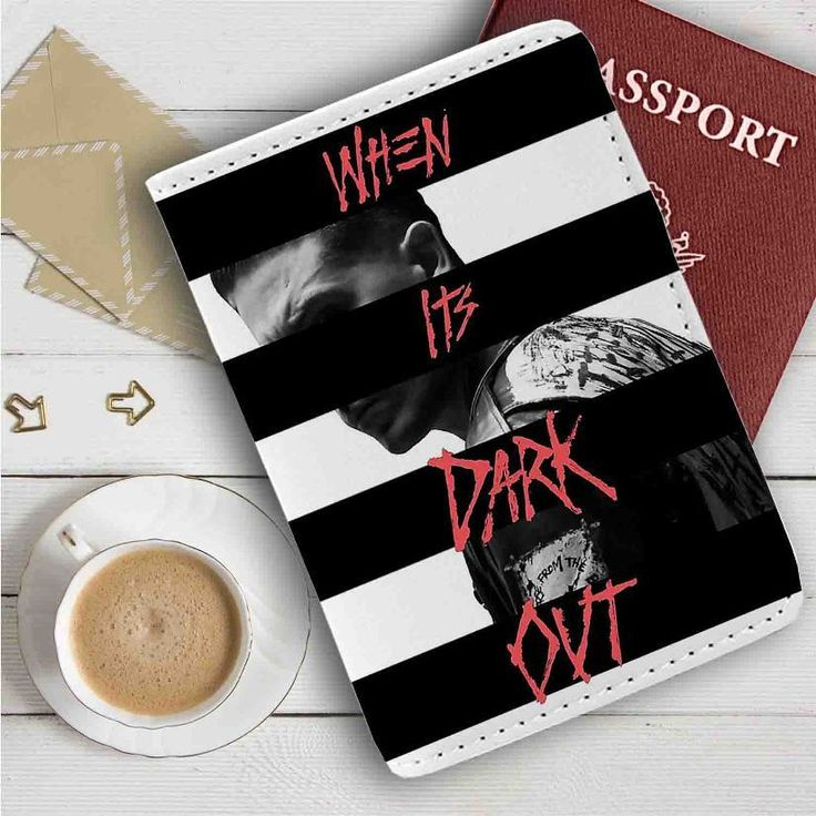 G Eazy When Its Dark Out Leather Passport Wallet Case Cover
