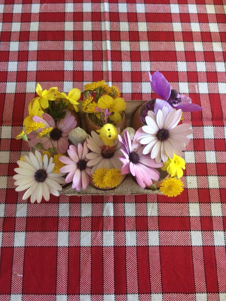 Décoration de pâques  #diy#paques#eggs#flowers