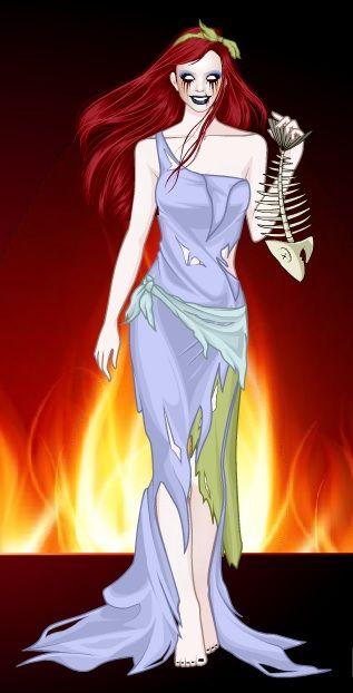 This is my Horror!Ariel -SommerTime #disney #princess #horror #halloween