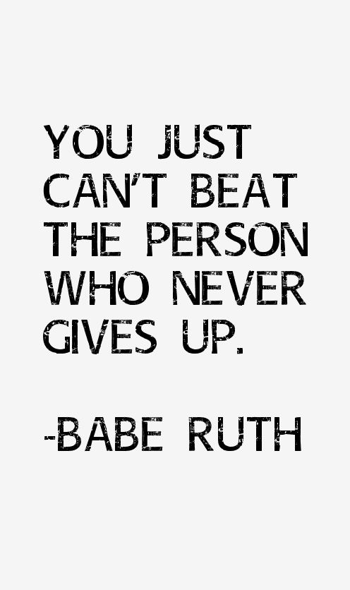 Babe Ruth Quotes & Sayings