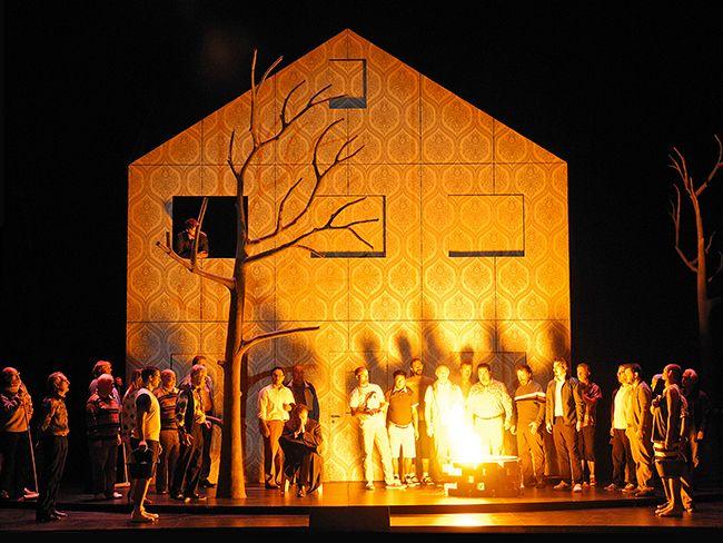 The Magic Flute (Wolfgang Amadeus Mozart), set and light design: Klaus Grünberg, Zurich Opera House, 2014