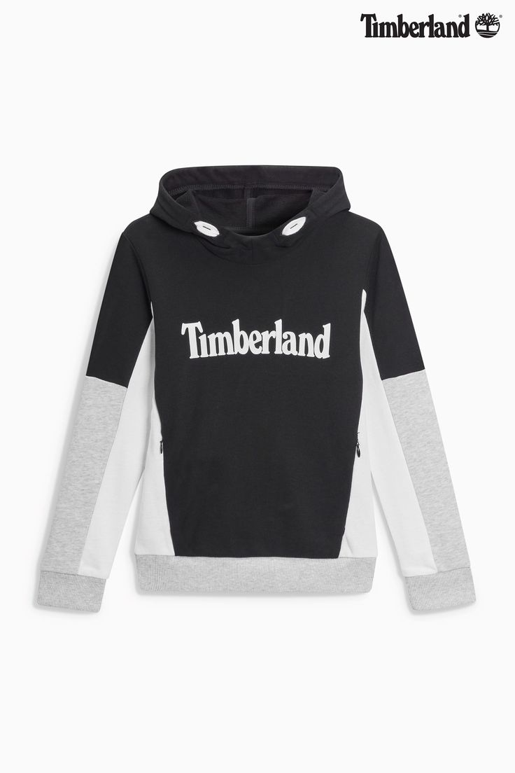 Buy Timberland® Black Colour Block Logo Overhead Hoody from the Next UK online shop