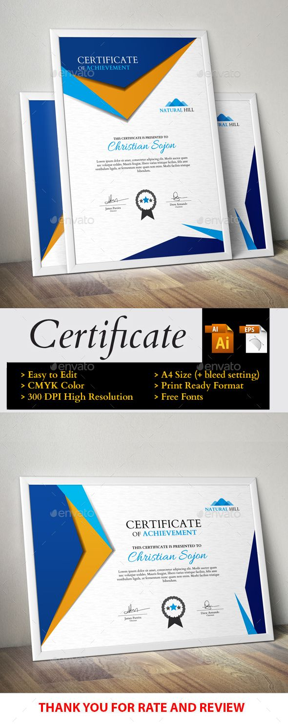 186 best certificate images on pinterest certificate templates certificate yadclub Gallery