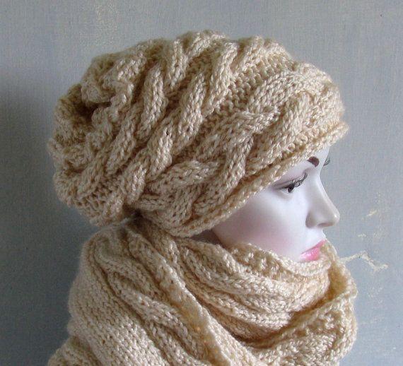 knit hat slouchy women / men  beanies style hat  Slouch